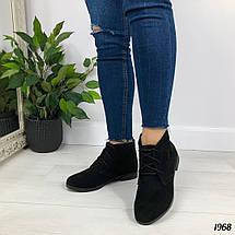 Замшевые ботинки без каблука, фото 2