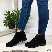 Замшевые ботинки без каблука, фото 3