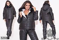 Теплый зимний спортивный костюм на синтепоне в большом размере р. 46-48,50-52