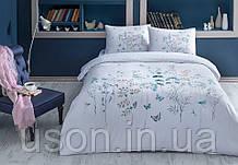 Комплект постельного белья полуторный размер tac ранфорс ALINA TURKUAZ