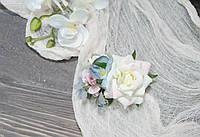 Шпилька у волосся ніжний рожево-блакитний, фото 1