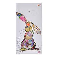 """Блокнот 100*200/64 линия интег., фольга золото+Уф.выб. """"BugArt. White rabbit"""" YES"""
