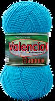 Пряжа для вязания Valencia Flamingo. 40% полированная шерсть, 5% вискоза, 55% акрил