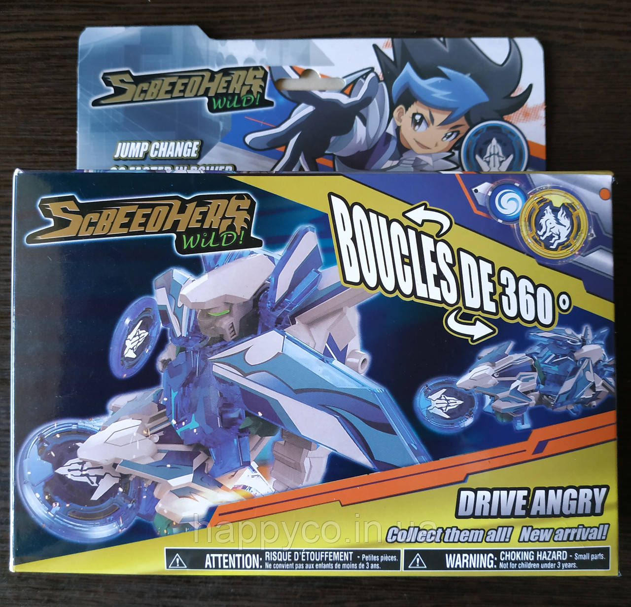 Скричер DRIVE ANGRY машинка трансформер , детская игрушка