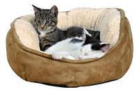 Лежак для собак и котов 50см Trixie Othello, коричневый/бежевый