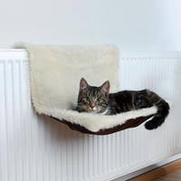 Лежак на батарею для кошки 45*26*31см Trixie, длинный мех коричн/беж