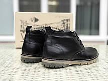 Мужские кожаныетуфлиVan Kristi, на меху,черные, фото 2