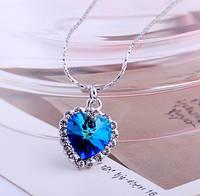 Кулон сердце океана с кристаллами swarovski