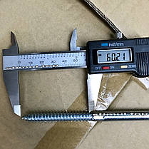 Шпилька сантехническая 10 х 140 мм (50 шт/упак) / Винт-шуруп комбинированный / Гвинт-шуруп сантехнічний, фото 3