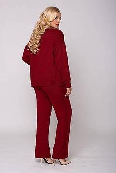 Элегантный женский вязаный костюм тройка-майка,брюки и кардиган 52 и 54 размер, фото 2