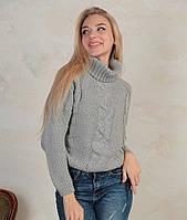 Женский вязаный свитер под горло
