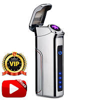 Электроимпульсная USB зажигалка Big Boss Chromium Max VIP 046_5