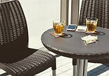 Набор садовой мебели Chelsea Set Brown ( коричневый ) из искусственного ротанга ( Allibert by Keter ), фото 3