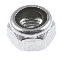 Гайки DIN 985 М8 шестигранные самоконтрящиеся низкие с нейлоновым вкладышем (кольцом)