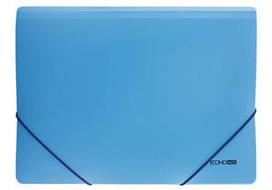 """Папка пластиковая A4 на резинках Economix,фактура """"апельсин"""" голубая E31633-11"""