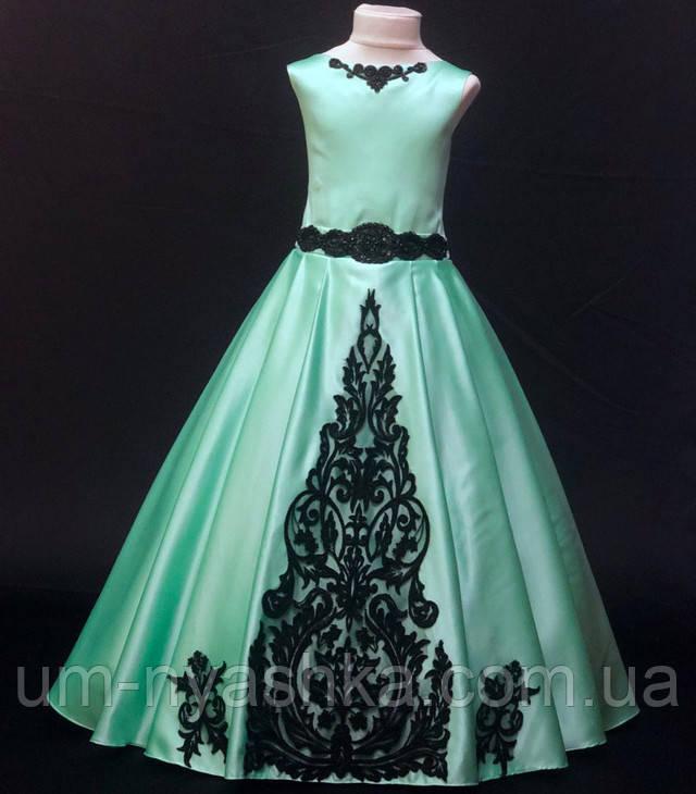 м'ятна нарядне плаття на дівчинку