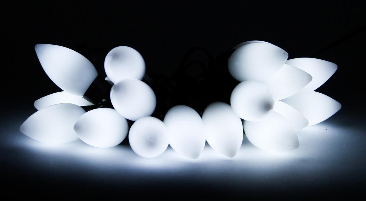 Светодиодная гирлянда с насадками 20Л белая (650934)