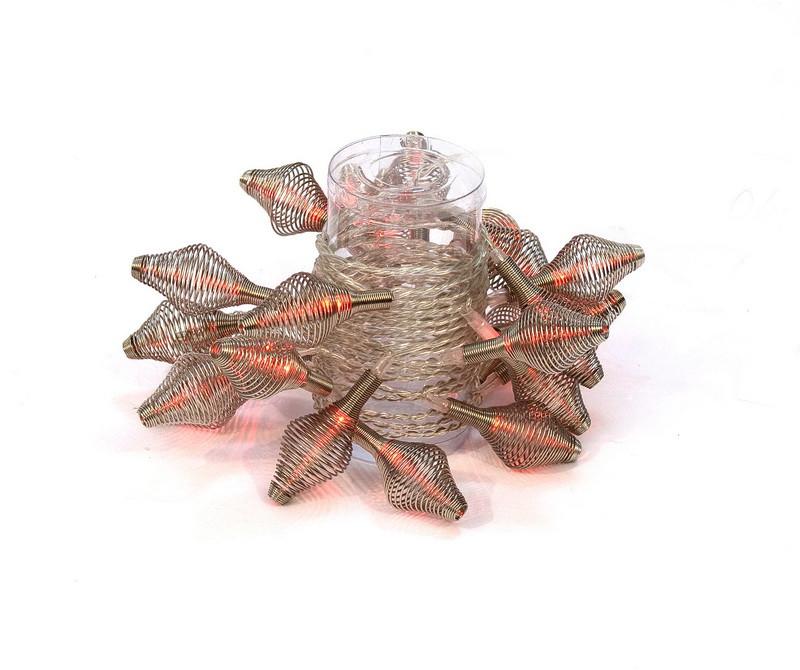 Светодиодная гирлянда Спиральные овалы 24Л красная (040346)