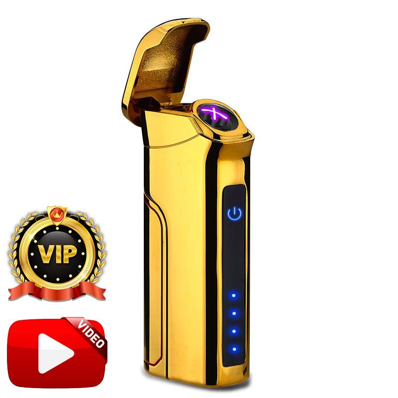 Электроимпульсная USB зажигалка Big Boss Gold Max VIP 046_4