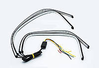 Подсветка решетки радиатора COLOR net light 2x61cm (Красный+Бегущий поворот+RGB)