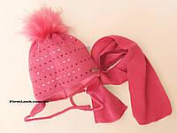 Детский комплект шапка и шарф на флисе,размер(2-3 года), фото 1