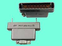 Соединитель прямоугольный штыревой РП10-15 ЛП розетка