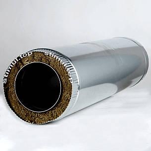 Труба Сендвич нерж/цинк 110х170 мм (1 метр) / Труба Сендвіч / Утеплена димохідна труба, фото 2