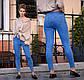 """Женские стильные джинсы с вышивкой + стразы """"301706"""", фото 2"""