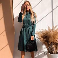 Элегантное ангоровое платье с карманами