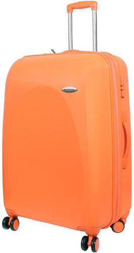 Большой, качественный чемодан Vip Collection Galaxy на 4-х колесах 116/135 л G.28.orange оранжевый