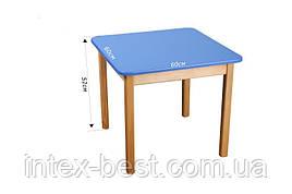 Деревянный (синий) столик Bambi (Финекс Плюс)