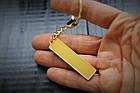 Брелок гос. номер з бортиком (Gold,великий), фото 3
