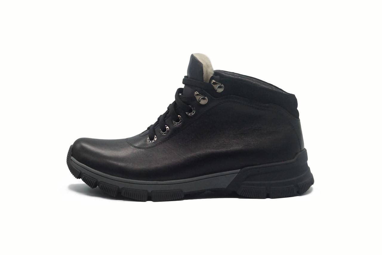 Натуральные кожаные мужские ботинки зимние