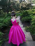 Шикарне довге плаття з золотим купоном на 6-10 років, фото 6