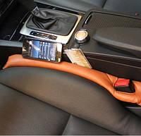 Вставка для передніх крісел автомобіля ZIRY 455х70mm штучна шкіра, коричневий, фото 1
