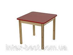 Деревянный (красный) столик Bambi (Финекс Плюс)