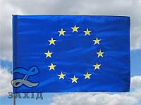 Флаг Евросоюза с вышитыми звездами из прокатного атласа