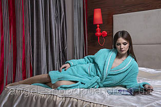 Плюшевый женский халат под пояс, теплая одежда для дома