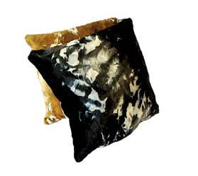 Диванная подушка из Шкуры коровы черная 36*36 см