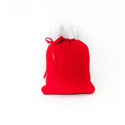 Новогодние мешочки для конфет и подарков красный  21*15 см