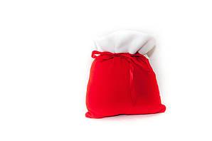 Мешок для подарков новогодний красный 31*27 см