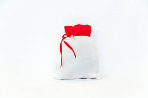 Новогодние мешочки для конфет и подарков белый  21*15 см