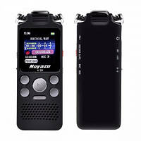 Диктофон цифровой с таймером Noyazu voice recorder V59 Stereo 16 Гб, черный