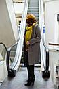 Женское пальто серое  из шерсти Modna KAZKA , фото 2