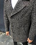 Пальто - Мужское черное пальто классическое, фото 2