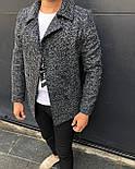 Пальто - Мужское черное пальто классическое, фото 3