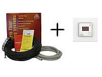Теплый пол Arnold Rak двужильный кабель EC 6112-20 + терморегулятор Terneo ST