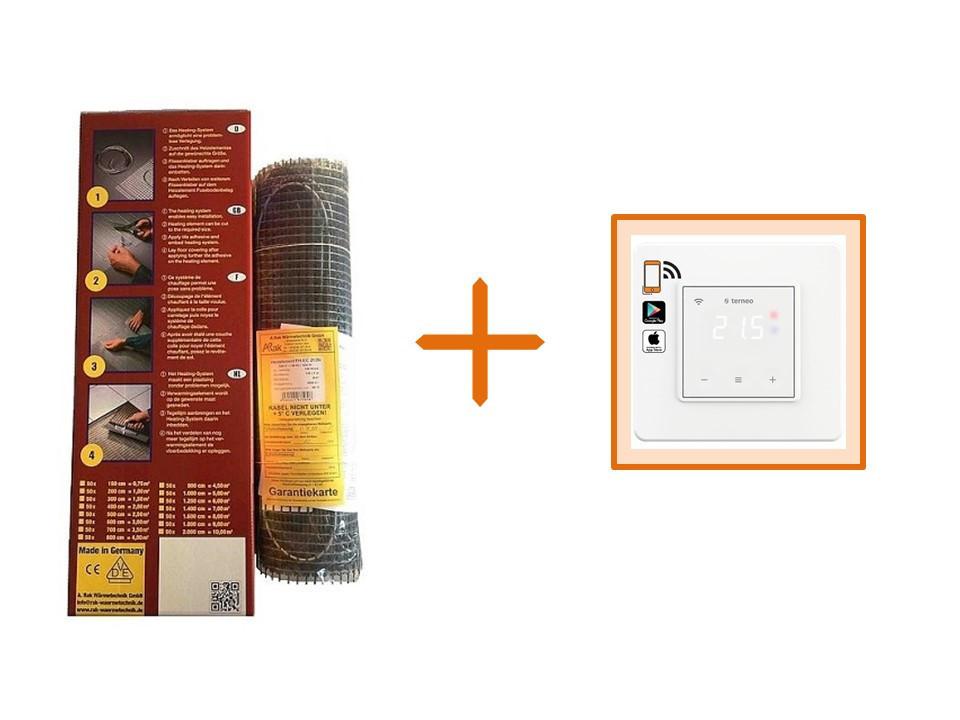 Нагрівальний мат Arnold Rak FH-EC-21100 (10 м. кв.) + Wi-Fi терморегулятор Terneo SX