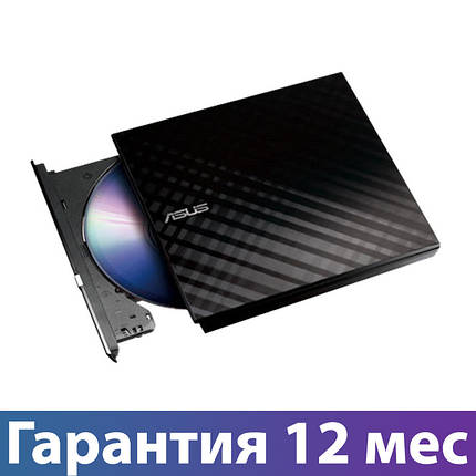 Внешний дисковод для ноутбука ASUS DVD+/-RW, USB 2.0 (SDRW-08D2S-ULITE), переносной оптический привод, фото 2