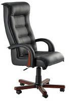 Кресло для руководителя «Роял Люкс» кожа сплит, Бесплатная доставка